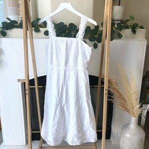 Ann Taylor White Summer Dress